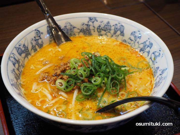 ゴマとクリーミーなスープの担々麺(810円)