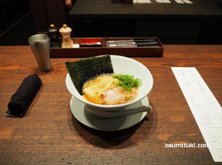 鴨清湯麺(1000円・鴨出汁中華そばROKU)