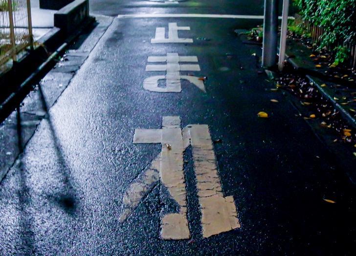 『ナニコレ珍百景』で、神奈川県川崎市にある道路標示「止れま」が紹介