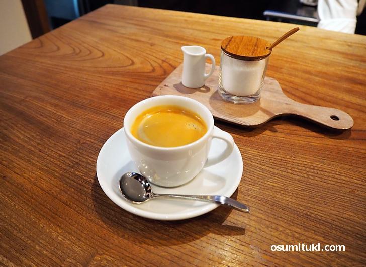 最後はコーヒー