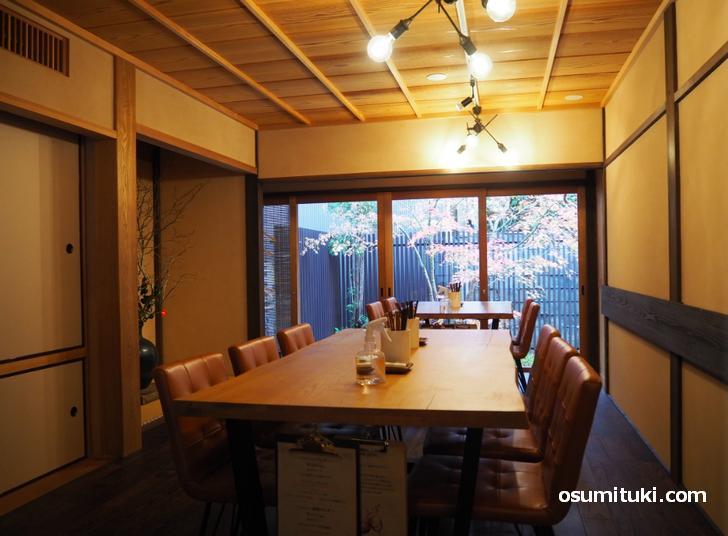 京町家をリノベーションした高級感ある空間(御所 DeLino)