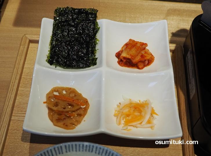 韓国惣菜が4種類