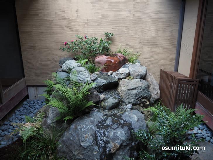 奥に長い京町家で坪庭・奥庭がありました