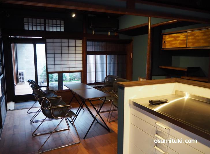 台所もある和室では料理教室もできます