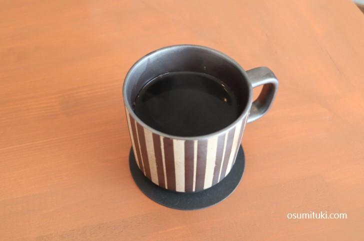 すっきりとした深煎りのコーヒー