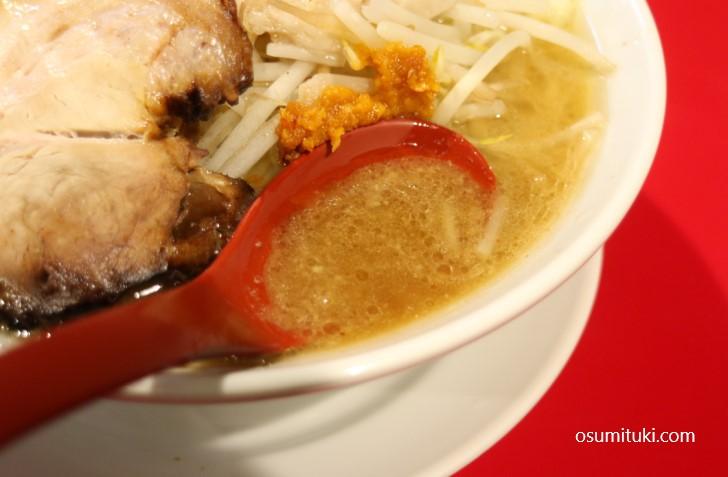 甘めの強い非乳化スープ