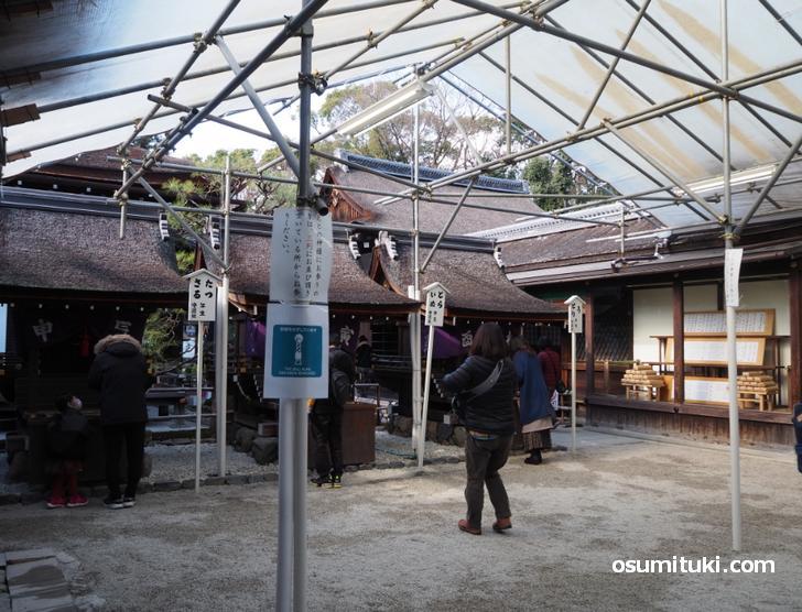 下鴨神社の本殿内も空いてます