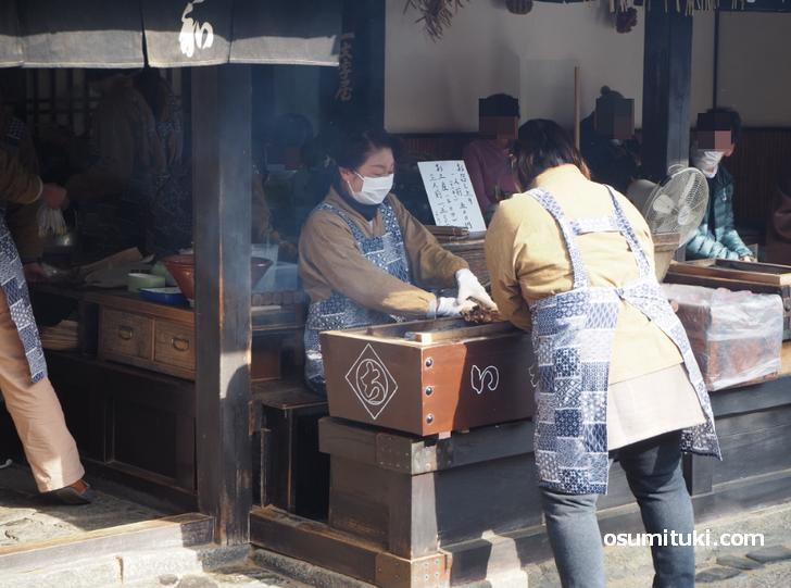 今宮神社「あぶり餅」(2021年1月3日撮影)