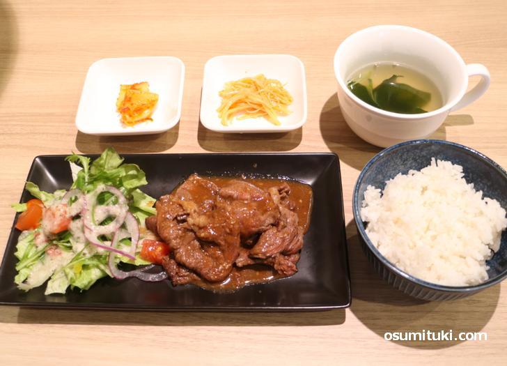 焼肉定食(1300円)