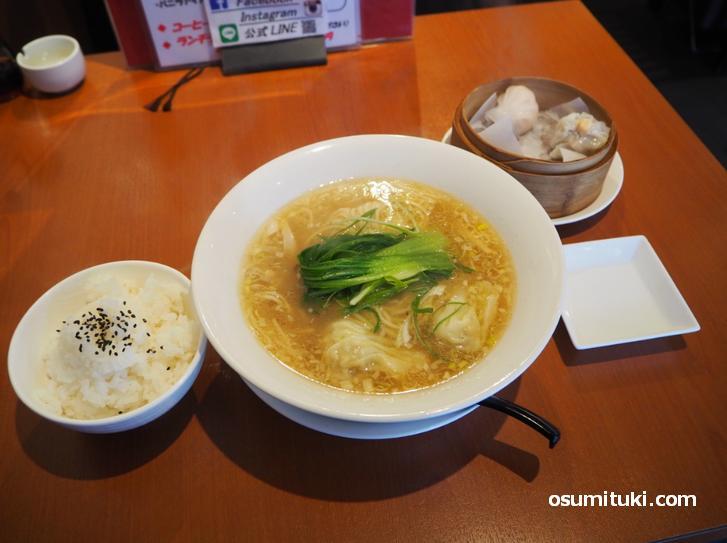 海老ワンタン麺セット(1050円)