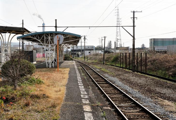 静岡県富士市比奈の岳南電車「比奈駅」(無人駅)