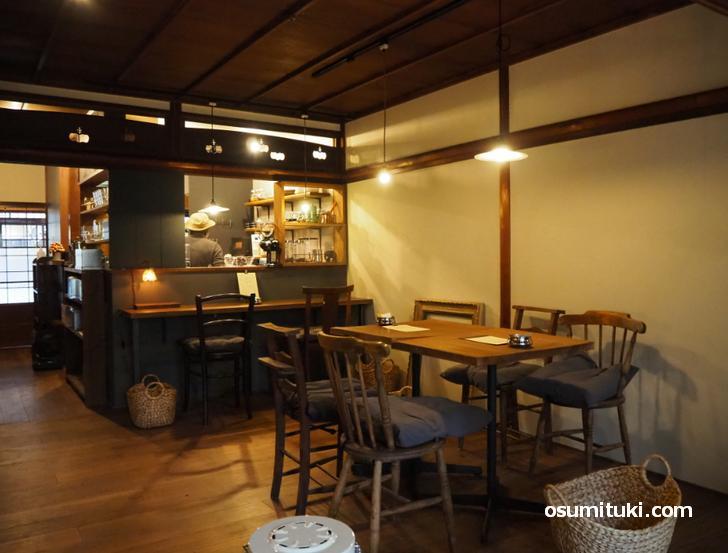 カフェ オリジ 京都西陣(店内写真)