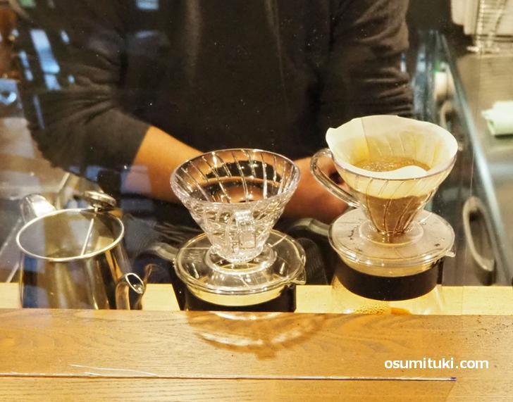 コーヒーはハンドドリップです(cafe origi)