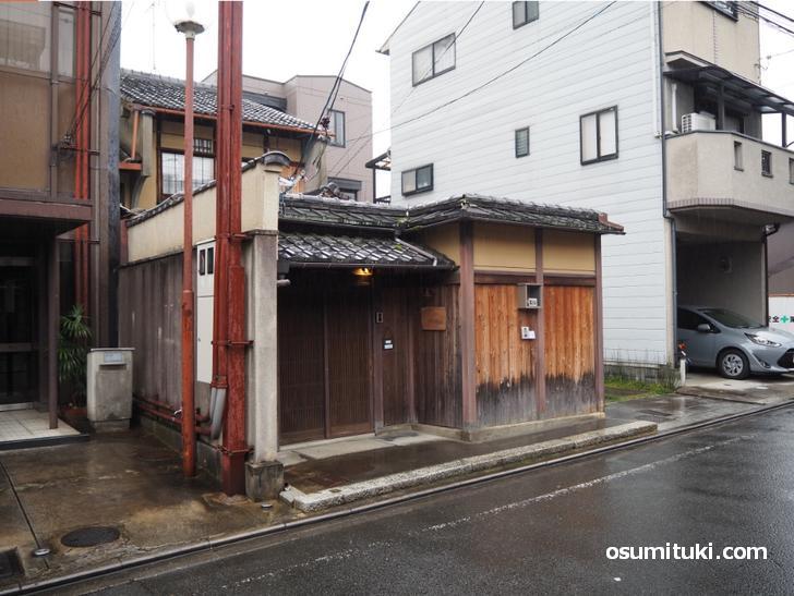 カフェ オリジ 京都西陣は智恵光院の北側の道を西に入ったところにあります