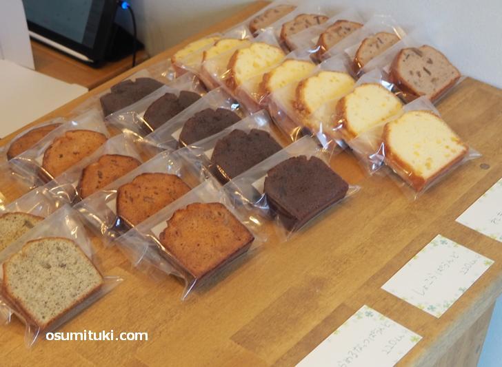 マドレーヌやパウンドケーキもあります