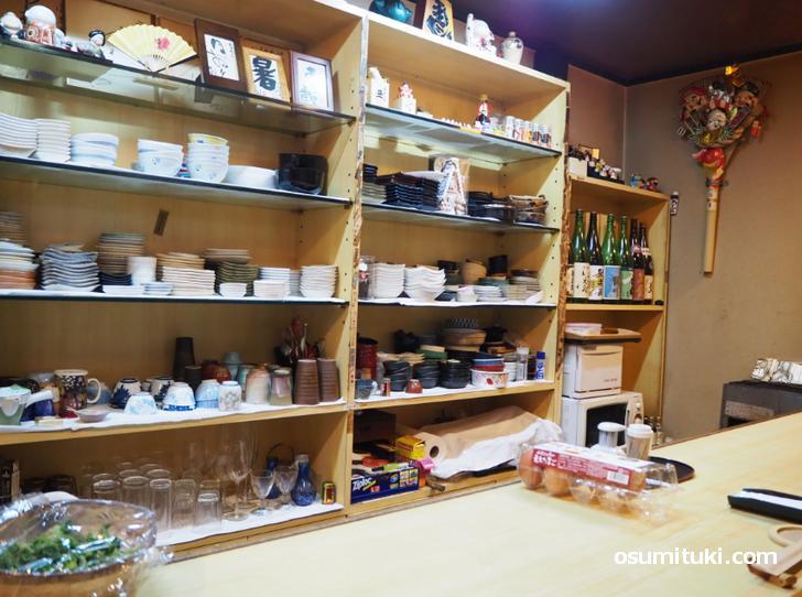 カウンターのある小料理店です(上七軒 小きみ)
