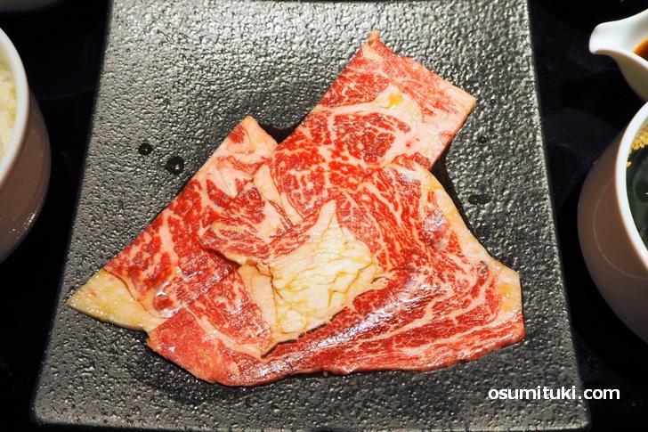 品質の素晴らしいロース肉が提供されます
