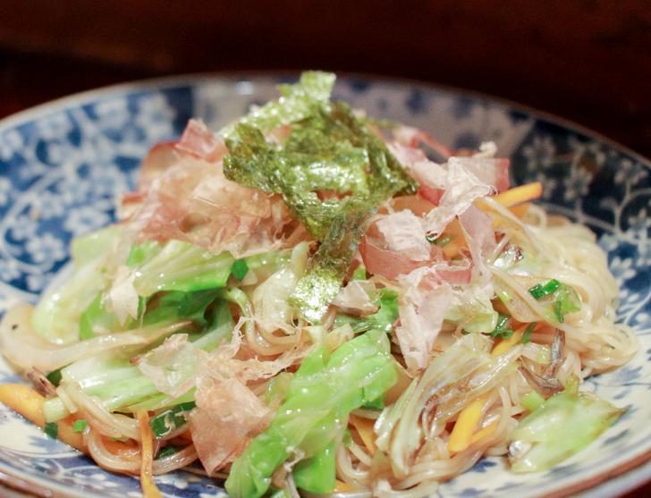 野菜炒め(ソーメン入り)