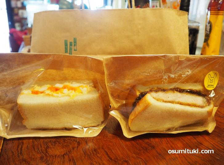 サンドイッチは一枚サイズのもの