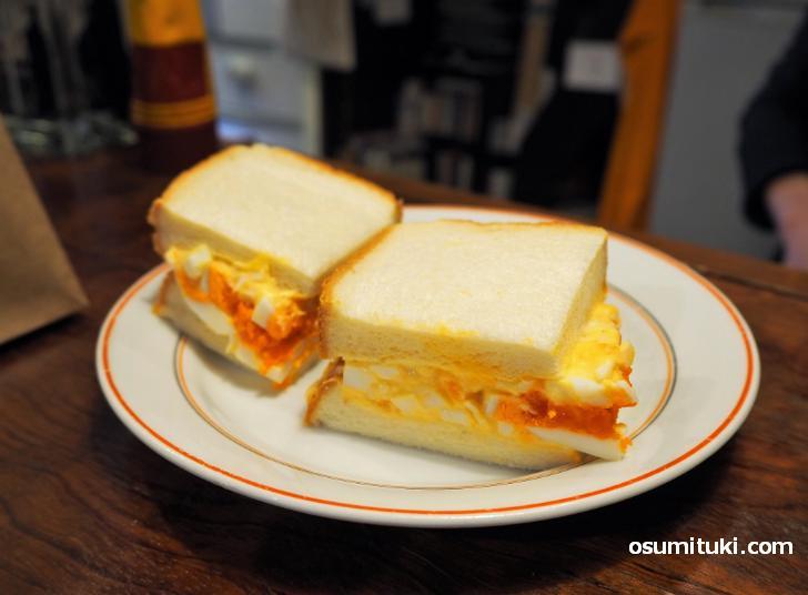 こだわり玉子サンドイッチ(320円)
