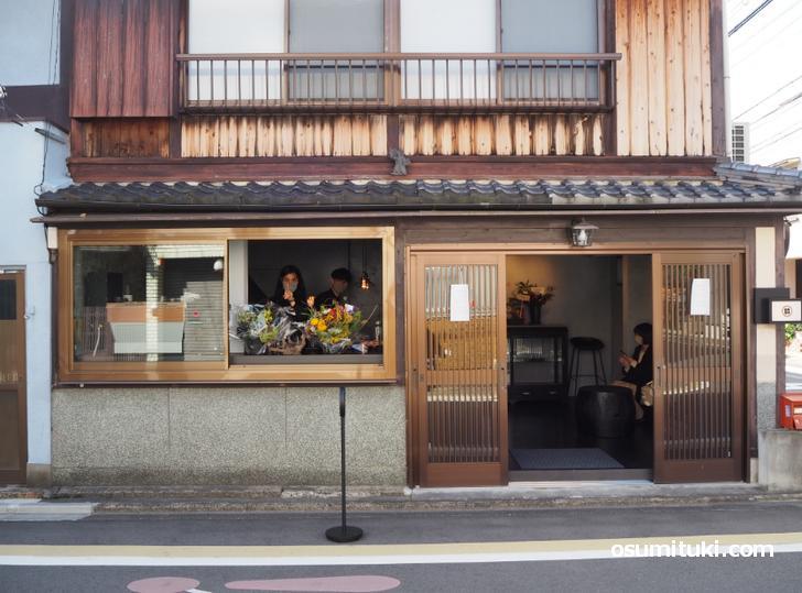 京町家をリノベーションしたカフェです