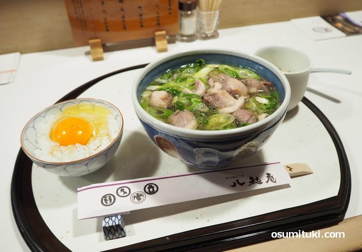 八起庵 鴨なんばと卵かけご飯(京都市左京区)