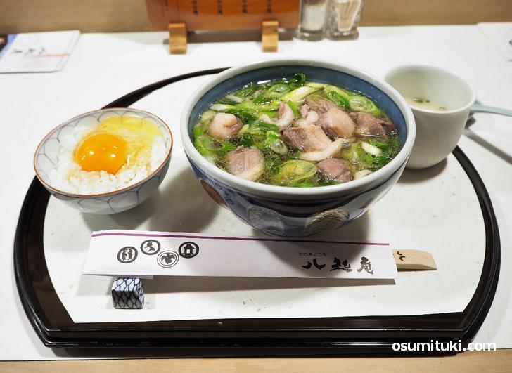 鴨なんば+玉子かけご飯(1900円)