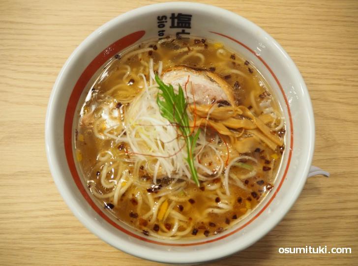 天然塩ラーメン(836円)