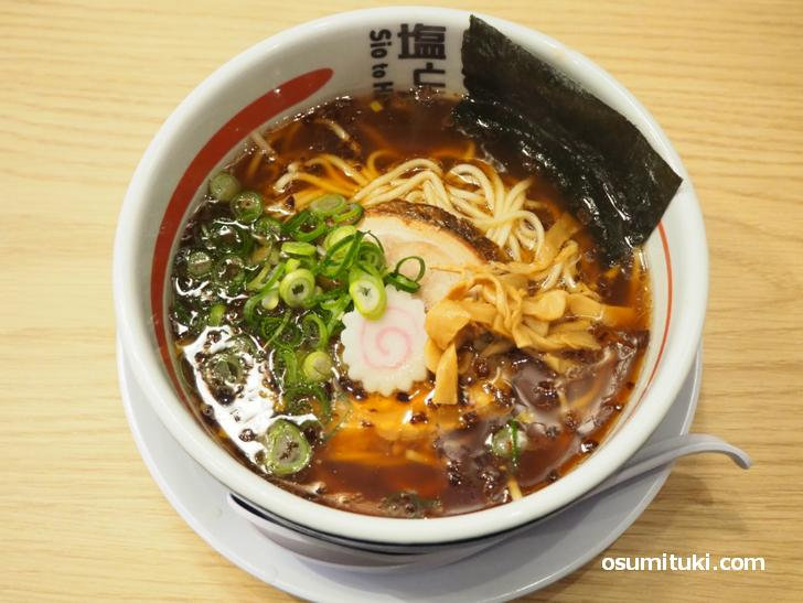 熟成醤油ラーメン(836円)