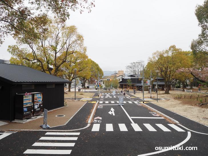 リニューアルした大宮交通公園の自転車広場