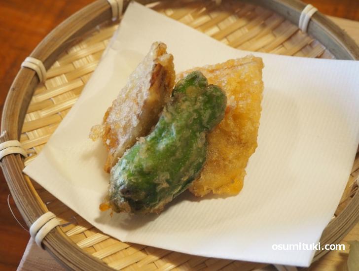 この天ぷらが一番好きかも