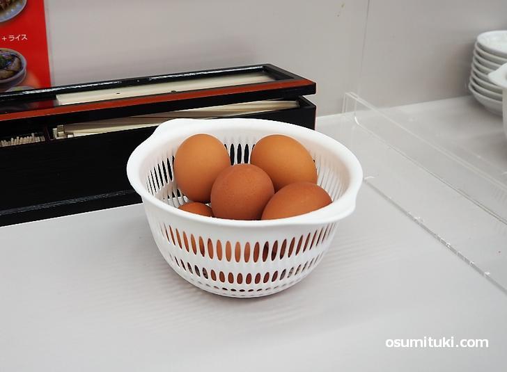 平日ランチのゆで卵は無料(年末年始・大型連休除く)