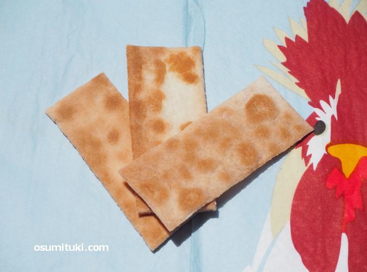 日本最古のお菓子「唐板煎餅」がこちら