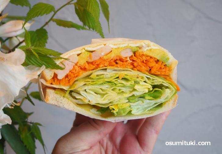 芋と野菜に特化したサンドイッチ(カフェ&バー芋と野菜)