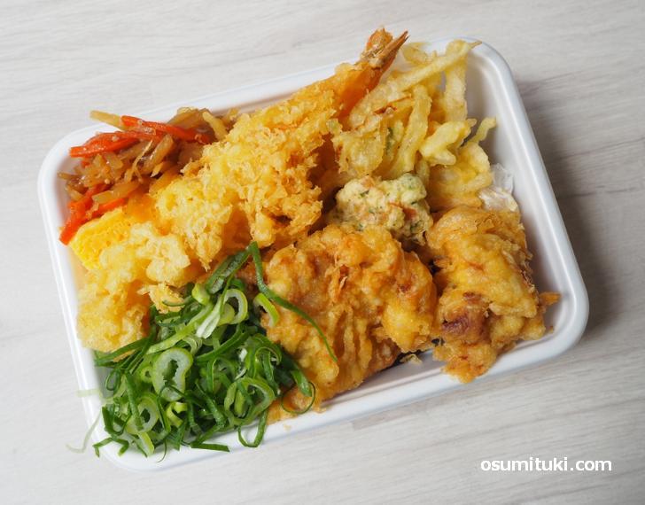 丸亀うどん弁当 天ぷら4種(620円)を食べてみました