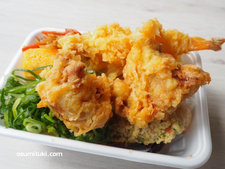 鶏天ぷらが大きくておいしい