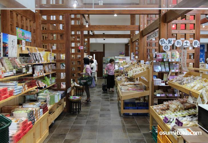売店コーナーが充実している滋賀の道の駅「妹子の郷」