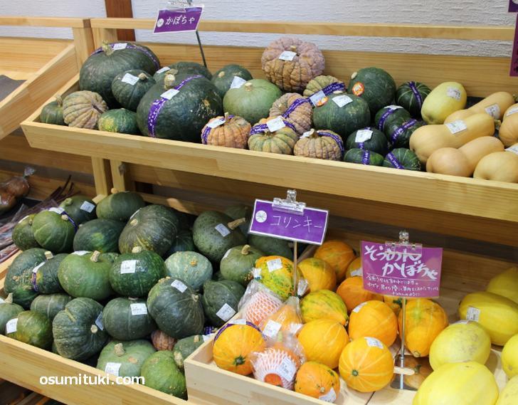 滋賀県産の野菜・肉なども売られていました