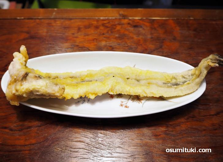 全然小さくない穴子一本天ぷら