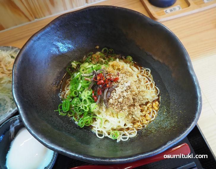 汁なし担々麺 黒胡麻(650円)