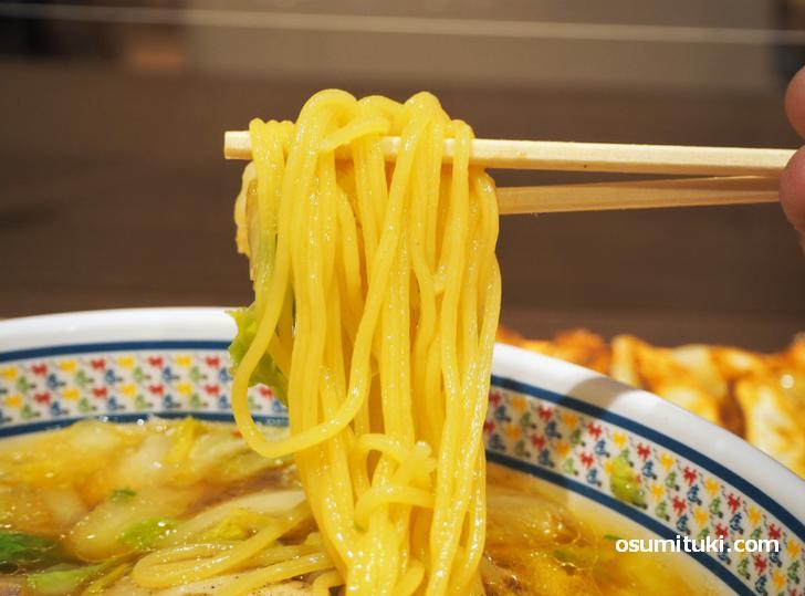ちゅるちゅるで柔めの中華麺