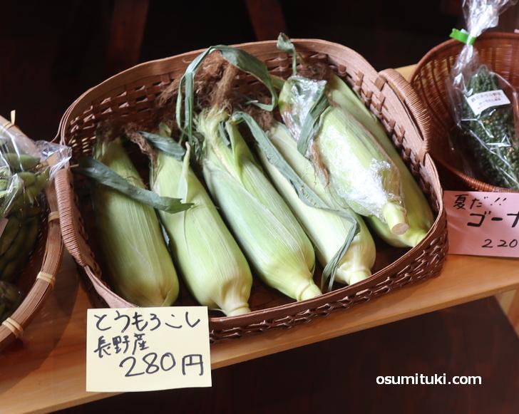 滋賀の野菜のほか遠地(えんち)もの野菜も扱います