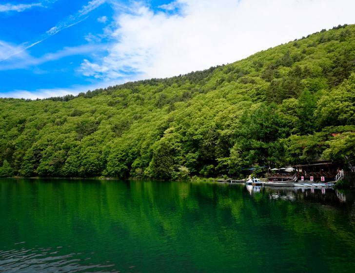 名勝・四尾連湖へは車で10分ほどの場所にあります