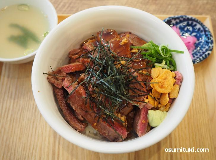 俺のステーキ丼(1200円)