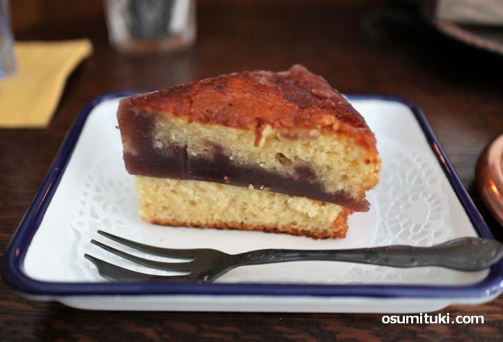 ケーキ(700円)当日は羊羹を使ったシベリア