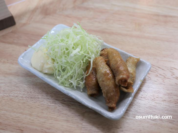 鶏皮ぎょうざ(350円)