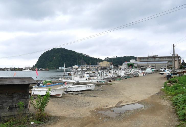 美嶋丸のあわびが育つ香住漁港西港