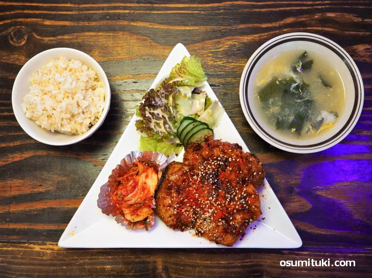 タッカンジョン定食 850円(韓国料理店 限界ヲ突破セヨ)