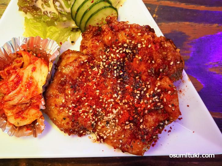タッカンジョンは大きくてパリッとした食感が美味しい(韓国料理店 限界ヲ突破セヨ)