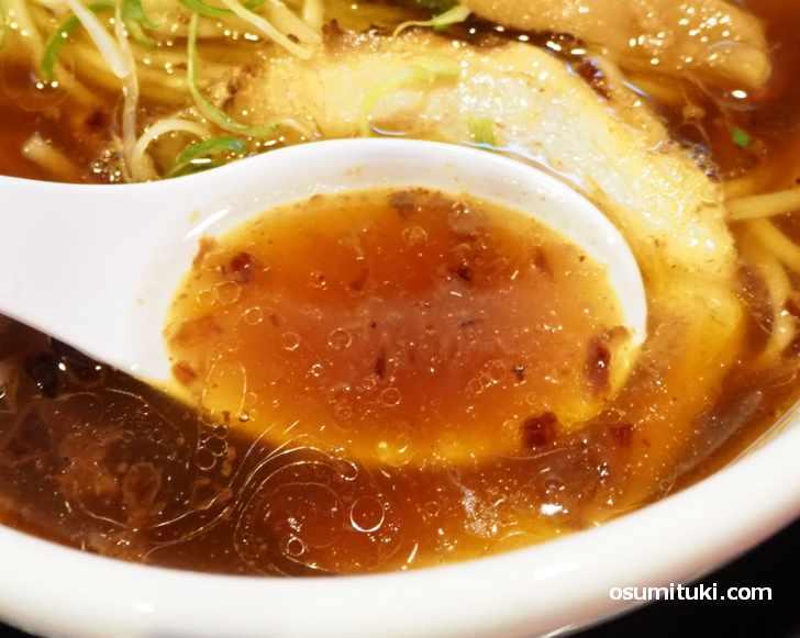 スープがとても美味しい「熟成醤油らーめん」